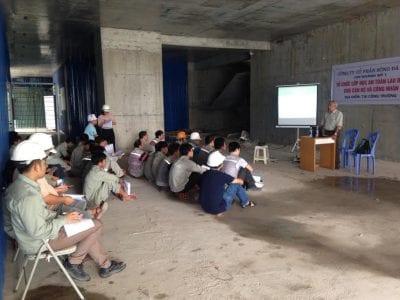 TIEC tổ chức huấn luyện ATLĐ tại Công ty CP Sông Đà 1.01