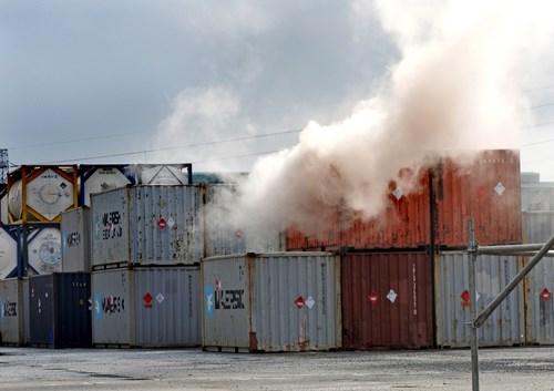 An toàn lao động hóa chất - diễn tập cháy nổ hóa chất