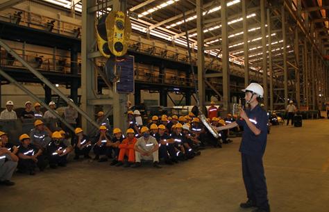 An toàn lao động sơ cấp trong quá trình luyện kim bằng lò cao